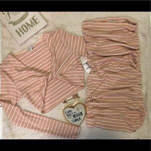 Matching Crop Top & Skirt Set